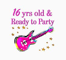 16 YEAR OLD ROCK STAR AND READY TO PARTY Women's Fitted Scoop T-Shirt