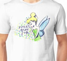 Never Grew Up Tink Colour Unisex T-Shirt