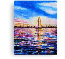 Sunset Sail Newport Beach Canvas Print
