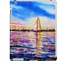 Sunset Sail Newport Beach iPad Case/Skin