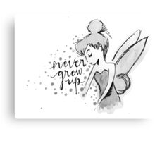Never Grew Up Tink BW Canvas Print