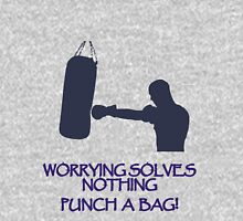 Worrying solves nothing-punch a bag Hoodie