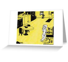 Solitude in Yellow Greeting Card