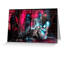 Cyberpunk Painting 071 Greeting Card