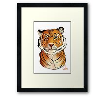 The Tiger - Bust Framed Print