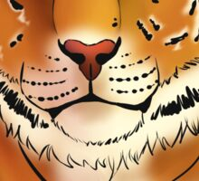 The Tiger - Bust Sticker