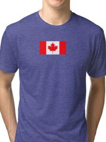 Canadian Flag - National Flag of Canada - Maple Leaf T-Shirt Sticker Tri-blend T-Shirt