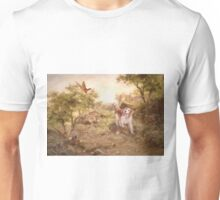 Watercolor Welsh Springer Spaniel and Pheasants Unisex T-Shirt