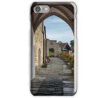 Footpath to Glastonbury Abbey iPhone Case/Skin
