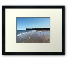 Saltburn Beach - Hunt Cliff (without text) Framed Print