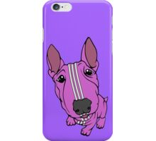 Sporty Bull Terrier Pink and White iPhone Case/Skin