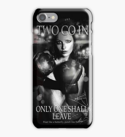 Boxing - Two go in, Only one shall leave iPhone Case/Skin