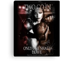 Boxing - Two go in, Only one shall leave Canvas Print