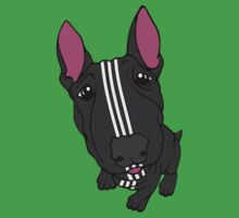 Sporty Bull Terrier Black and White One Piece - Short Sleeve