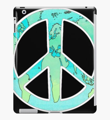 Water Color World Peace iPad Case/Skin