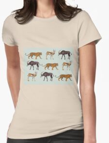 Tiger and Antelopes Womens Fitted T-Shirt