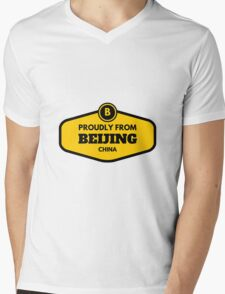 Proudly From Beijing China Mens V-Neck T-Shirt