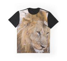 Male Lion Graphic T-Shirt