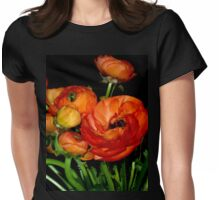 In Love with GORGEOUS ORANGE RANUNCULUS Womens Fitted T-Shirt