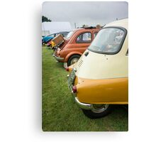 Rear View of Several Classic Cars in a Line Canvas Print
