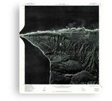 USGS TOPO Map Hawaii HI Kaena 349318 1977 24000 Canvas Print