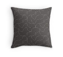 SWIRL / coffee Throw Pillow