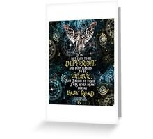 Infernal Devices - Easy Road Greeting Card