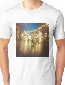 street in rain Unisex T-Shirt