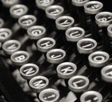 Typewriter Sticker