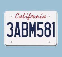 Mr Wolf license plate: California 3ABM581 Kids Tee