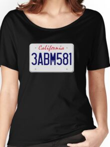 Mr Wolf license plate: California 3ABM581 Women's Relaxed Fit T-Shirt
