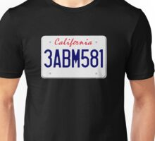 Mr Wolf license plate: California 3ABM581 Unisex T-Shirt