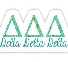 Delta Delta Delta Letters Sticker