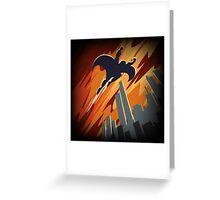 Flying Super hero Greeting Card