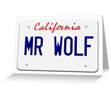California Mr Wolf License plate Greeting Card