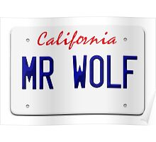 California Mr Wolf License plate Poster