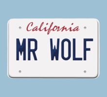 California Mr Wolf License plate One Piece - Short Sleeve