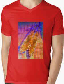 Moth on screen Mens V-Neck T-Shirt