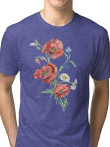 Red Poppies Tri-blend T-Shirt