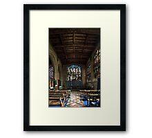 Inside of St Peter and Paul's church in Lavenham  5 Framed Print