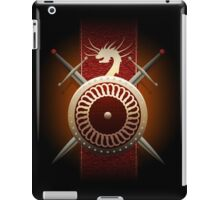 dragon shield with swords iPad Case/Skin