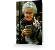 On The Subway Greeting Card