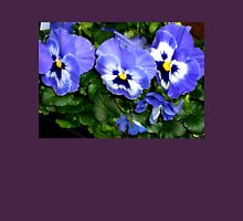 FOR THE LOVE OF PANSIES! - Blue Spring Delight Womens Fitted T-Shirt