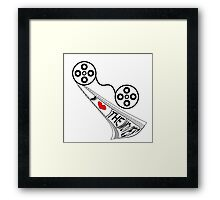 I Love the Movies Framed Print