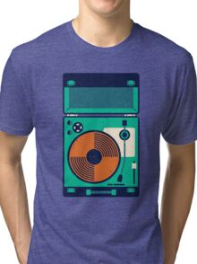 Record Player Tri-blend T-Shirt