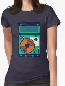 Record Player Womens Fitted T-Shirt