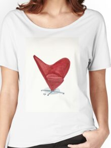 The Heart cone chair - Watercolor painting  Women's Relaxed Fit T-Shirt