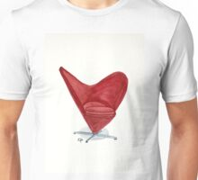 The Heart cone chair - Watercolor painting  Unisex T-Shirt