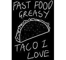 Taco Bell Saga (White) Photographic Print