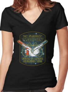 Elegant Weapon Women's Fitted V-Neck T-Shirt